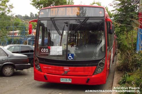 Transantiago - Redbus Urbano - Neobus Mega Low Entry / Volvo (CRCB14)
