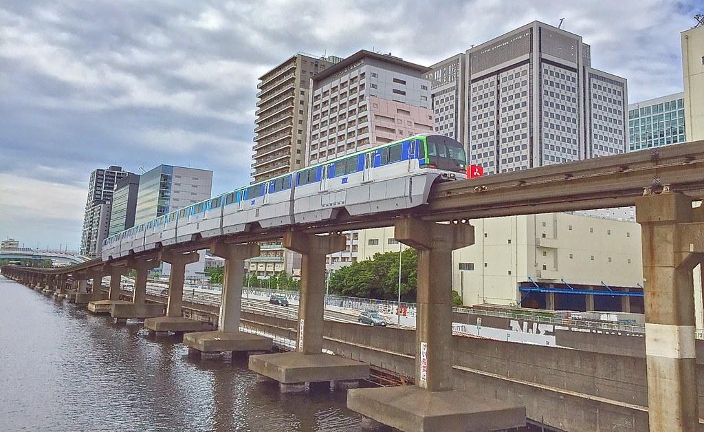 Tennozu Isle Tokyo Monorail shot on iPhone 6