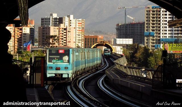 Metro de Santiago | Pedrero (L5) | Alsthom NS74 P3031