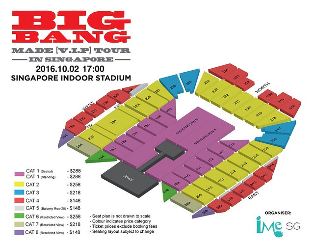 BIGBANG MADE VIP IN SG SEATING PLAN