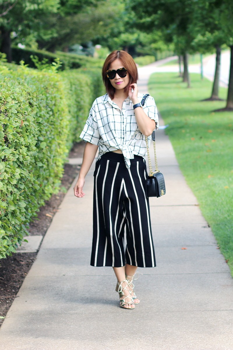 plaid-shirt-versona-stripe-pants