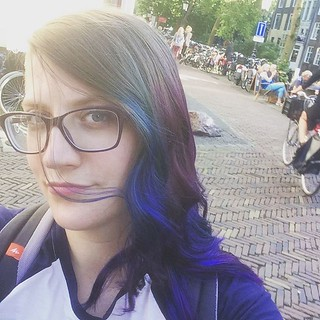 I dipped my hair in some space. #dipdye #hairstyles #galaxyhair #kinkikappers #oudegracht #utrecht