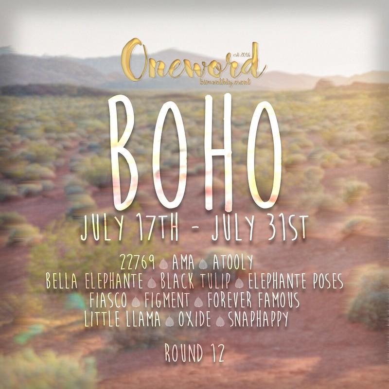 Oneword Round 13 Boho Poster