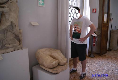 Restos antiguos en museo Correr de Venecia