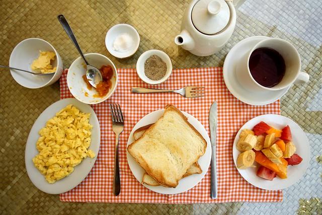 Breakfast at Kelimutu Crater Lakes Ecolodge