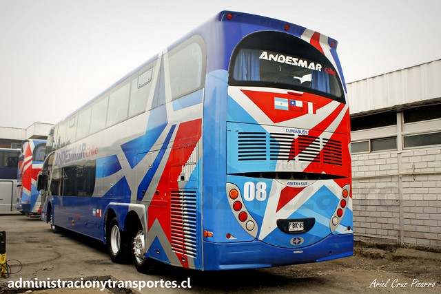 Andesmar Chile | Santiago | Metalsur Starbus 2 - Mercedes Benz / FYBK43 - 08