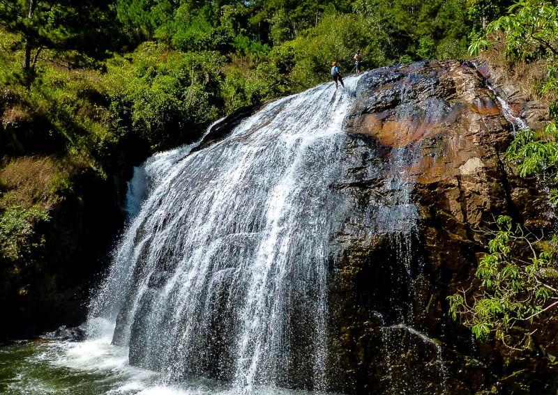 Waterfall abseil - Canyoning in Dalat