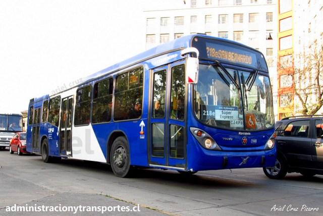 Transantiago 218e | Subus Chile | Marcopolo Gran Viale - Volvo / CJRP60 - 7483RP60 -