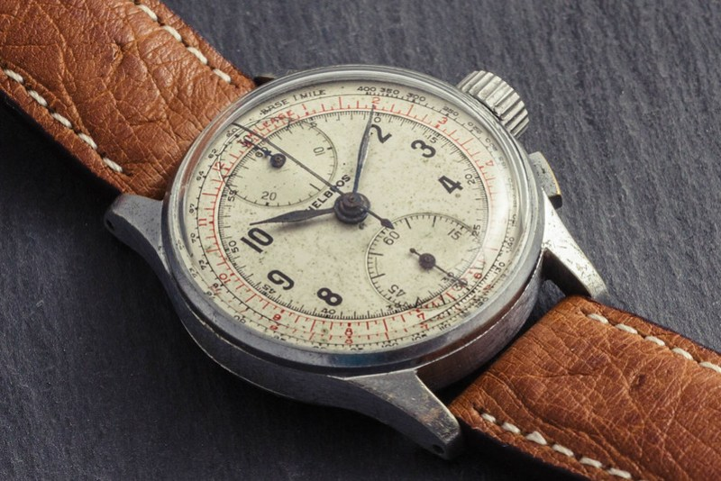 Vintage '40s Helbros chronograph watch #2