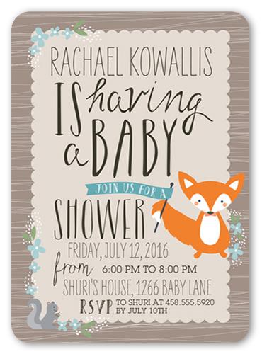 Woodsy Invite Boy Baby Shower Invitation Cards Shutterfly