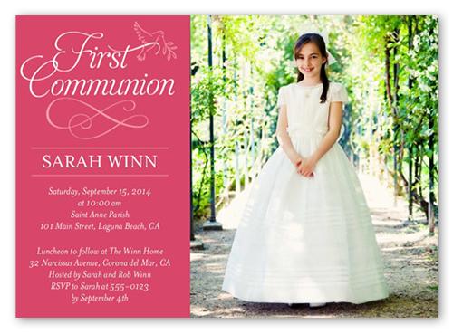 Timeless Script Girl Communion Invitation Shutterfly