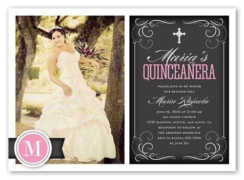 Flourishing Fifteen Quinceanera Invitations Shutterfly