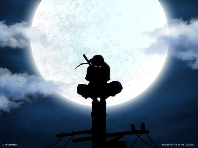 Hd Wallpaper Uchiha Itachi Moon