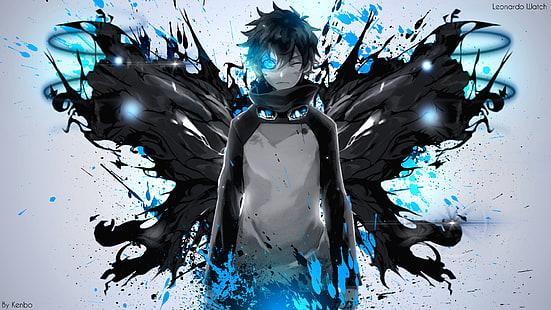 Hd Wallpaper Anime Boy Hoodie Blue Eyes Headphones Painting Wallpaper Flare