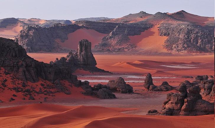 Hd Wallpaper Algeria Desert Dune Landscape Mountain Nature Red Rock Wallpaper Flare