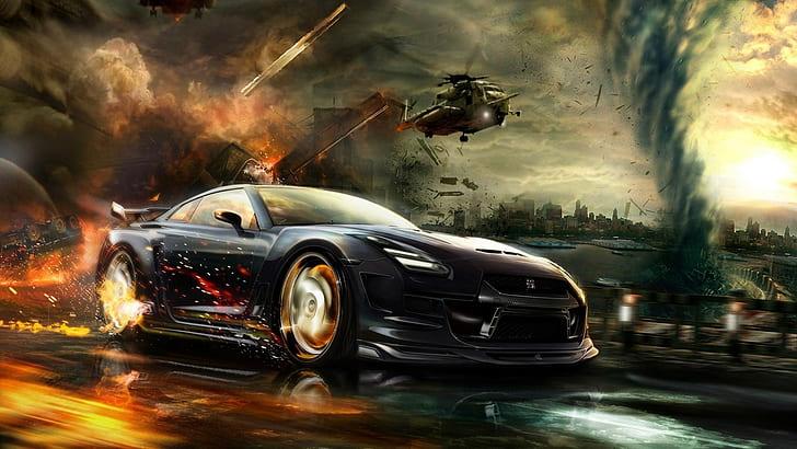 hd wallpaper cgi vehicle nissan gt r