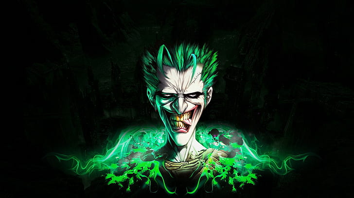 Hd Wallpaper Joker Batman Black Hd The Joker Digital Art Cartoon Comic Wallpaper Flare