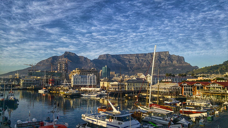 HD wallpaper: Cape Town, South Africa, Table Mountain, waterfront, boat,  sea | Wallpaper Flare