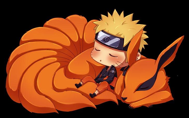 Hd Wallpaper Naruto And Nine Tails Wallpaper Fox Anime Ninja Manga Shinobi Wallpaper Flare
