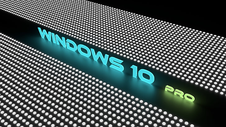 Neon colors, 4K, Windows 10 Pro, HD wallpaper