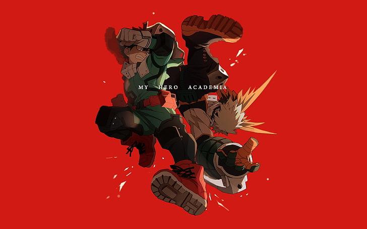 Hd Wallpaper My Hero Academia Characters Anime Boku No Hero Academia Colored Background Wallpaper Flare
