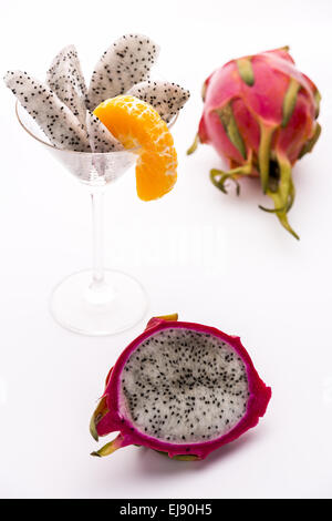 Fruit pulp of the strawberry pear - Stock Photo