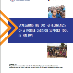 Evaluating the Cost-effectiveness of a Mobile Decision Support Tool in Malawi (Health Finance and Governance Project case study and evaluation 2015)