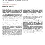 Coming of age: communication's role  in powering global health (BBC Media Action Policy Briefing 2016)