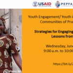 13 June: YouthPower Learning Webinar - Strategies for Engaging Youth Refugees: Lessons from Niger (9 - 10 am EDT)