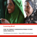Using the Community Conversation Approach to Tackle Gender Inequalities (Save the Children learning brief, 2017)