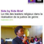 Le rôle des leaders religieux dans la réalisation de la justice de genre (Side by Side Brief, 2018)