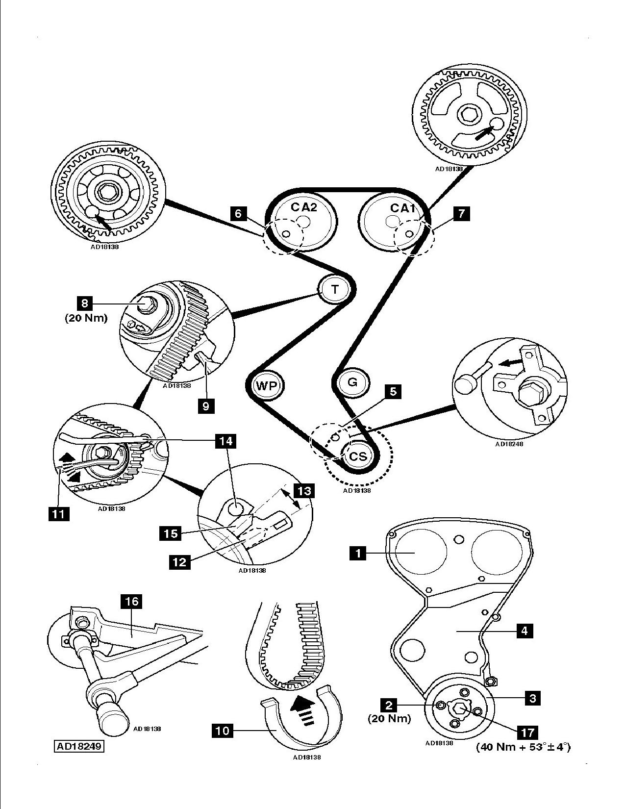 Peugeot 307 2 0 Hdi Timing Belt Replacement Instructions