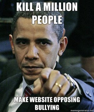 Kill A Million People -- Make Web Site Opposing Bullying