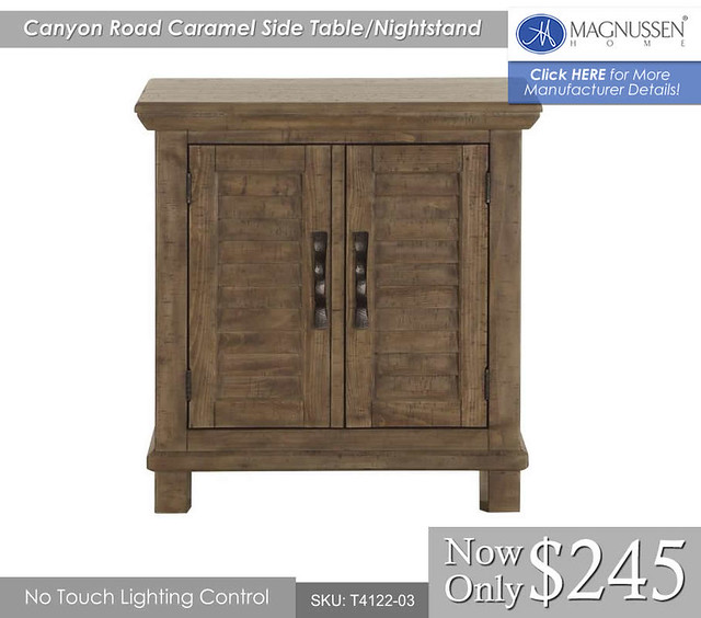 B4122-03 Canyon Road Caramel Side Table Nightstand