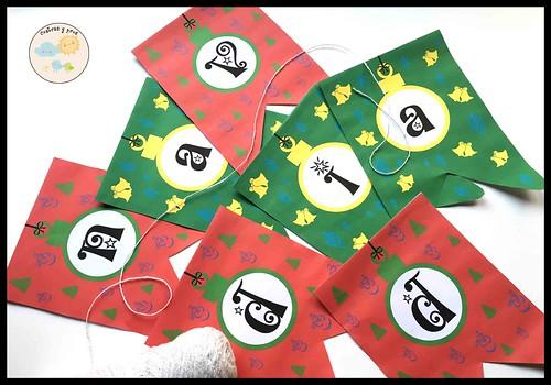 Banderines de Navidad personalizables. Imprimible gratis