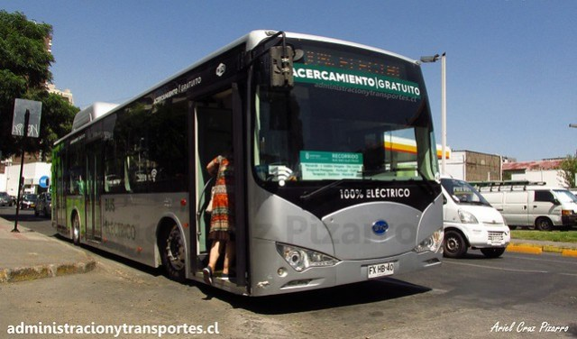 Bus Eléctrico BYD K9 FXHB40 Chile