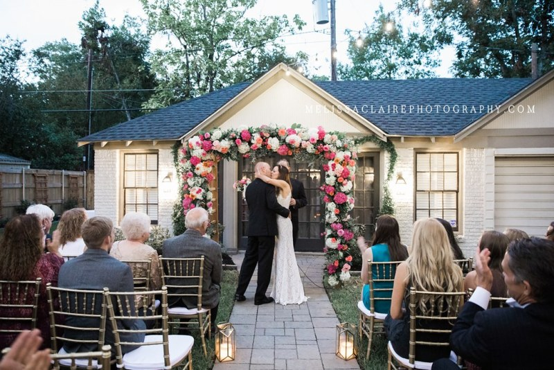 dallas backyard wedding