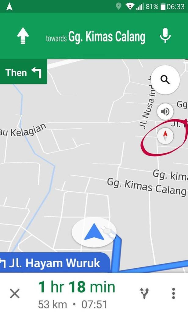 cara menggunakan google maps kompas