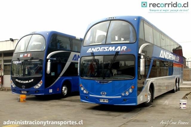 Andesmar Chile - Santiago (Chile) - Metalsur Starbus / Mercedes Benz (FYBK43) (FYBK44) (08) (10)