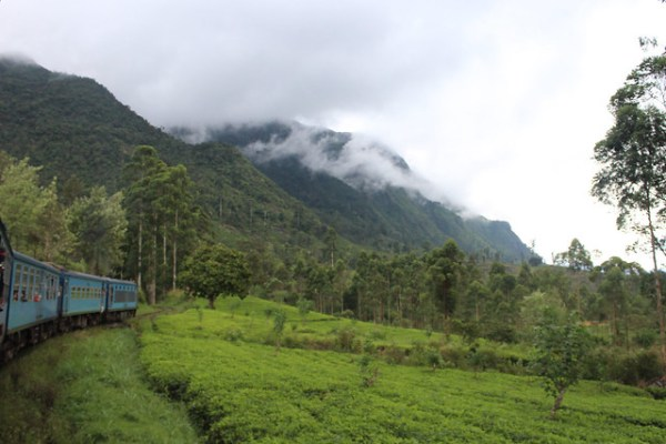 Train from Hatton to Haputale, Sri Lanka