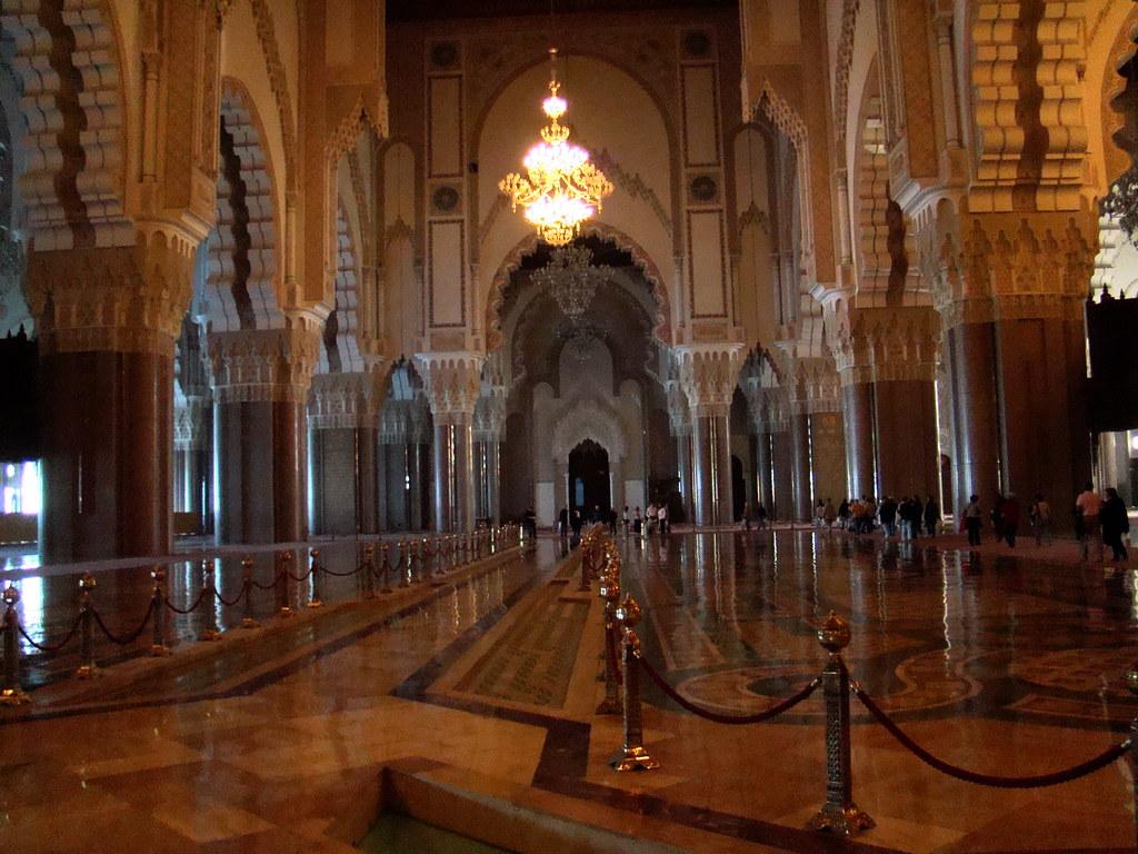 Marruecos Casablanca Mezquita Hassan II interior 20