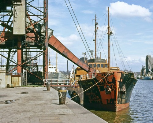 Preston Docks and the Ribble.