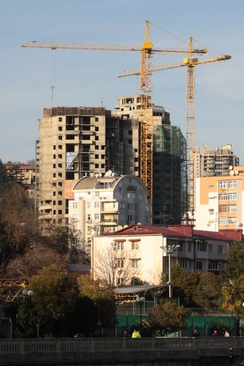 New apartment blocks under construction before the 2014 Winter Olympics in Sochi
