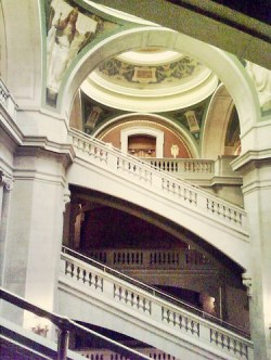 Lobby and stairs, Newark historic courthouse