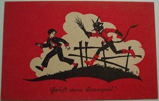Vintage Christmas Postcard Krampus Dave Flickr