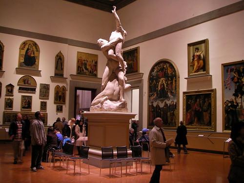 Réplica del Rapto de las Sabinas en la Galería de la Academia. ViajerosAlBlog.com.