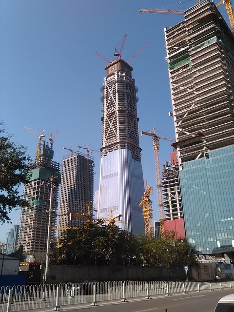 Beijing China Zun Tower Progress