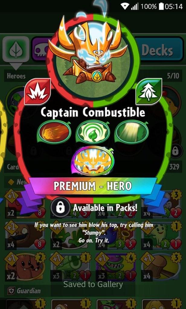 plant hero list captain combustible