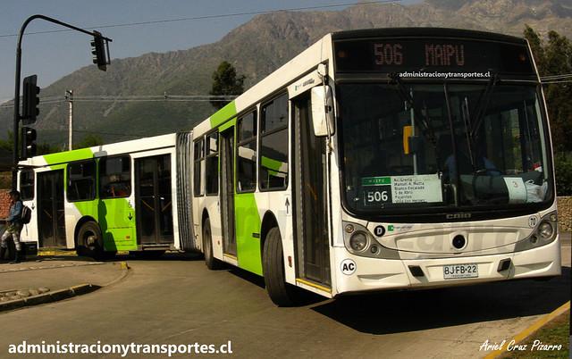 Transantiago 506 | Metbus | Caio Mondego HA - Mercedes Benz O500UA / BJFB22