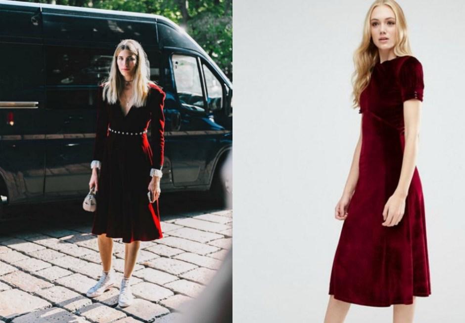 aksamitna sukienka 4